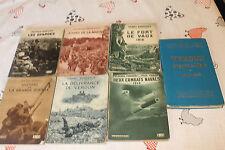 lot de 6 livres flamarion sur la guerre 14 18 + guide michelin sur  verdun 1928
