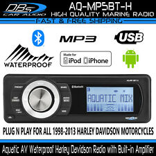 Aquatic AV Harley Davidson Motorcycle Waterproof Stereo Reciever Radio AQ-MP5BT