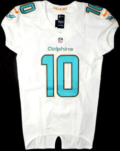 MIAMI DOLPHINS #10 KENNY STILLS 2014 TEAM/PLAYER ISSUED WHITE NIKE JERSEY Sz. 38