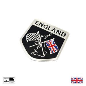 England Racing Badge Emblem Badge Motorsport Union Jack Mini Jaguar