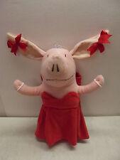 OLIVIA THE PIG GLAMOUR PLUSH RED DRESS JEWELRY OPERA SINGER HANDBAG TOTE DOLL