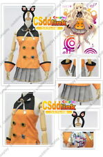 Vocaloid 3 Seeu Cosplay Costume + Socks + Headband Csddlink any sizes Mm1