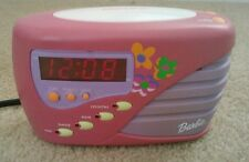 Barbie clock digital alarm wake up with me clock pink purple (tble4)