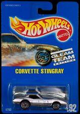 Hot Wheels #192 Gleam Team Corvette Stingray UH Wheels Blue Card 1992 Malaysia