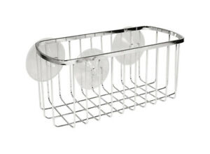 InterDesign  Shower Basket  4.1in H x 4.1in L x 8.7in W Chrome  Stainless Steel