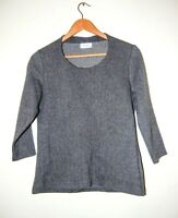 Cotswold Collections Top Grey Thick Jersey Herringbone Pattern Size 10 BNWOT