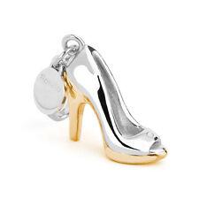 ROSATO ciondolo scarpa charm argento MY SHOES SH006 placcato oro e zirconi