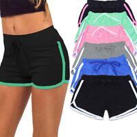 Women's Summer Sports Shorts Cotton Gym Workout Yoga Mini Short Pants Trousers