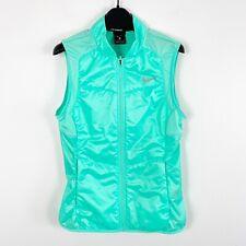 Nike Womens Polyfill Running Vest Jacket Reflective Green Size Small