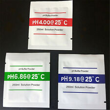 3x PH Buffer Solution Powder PH Test Meter Measure Calibration 4.00 6.86 9.18 UK
