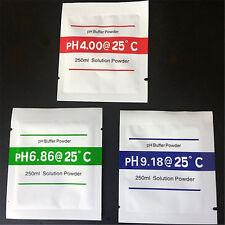 3x PH-Pufferlösung Pulver PH-Test Messgerät Kalibrierung 4.00 6.86 9.18 WRDE