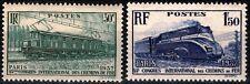 FRANCE 1937 CONGRES CHEMINS de FER à PARIS n° 339 et 340 neufs ★★ luxe / MNH