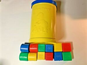 Fisher Price Baby's First Blocks Trio Shape Sorter Tub Toy Number 414 1977