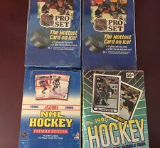 Lot Of 4 1990-91 HOCKEY Wax BOXES 2 1990 PROSET Series 1 1990 Topps & 1990 Score
