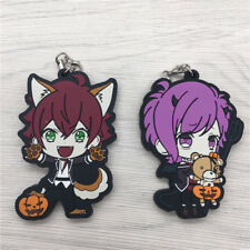 T690 Hot Anime DIABOLIK LOVERS 2pcs/set Rubber Straps Keychain Cosplay AA
