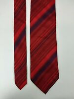 Brioni Red Blue Silk Tie Men's Made in Italy