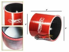 """3"""" Silicone Hose/Intake/Turbo/Intercooler Pipe Straight Coupler RED For BMW"""