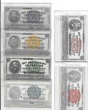 RARE GROUP OF ALL SIX 1933 RINGLING BROS. 50TH. ANN. TICKETS MATCHING #'S