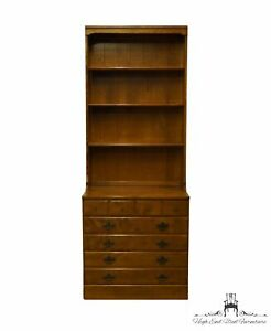 "ETHAN ALLEN Heirloom Nutmeg Maple CRP Custom Room Plan 30"" Chest w. Bookcase ..."