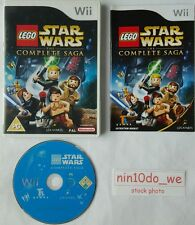 LEGO STARWARS THE Complete Saga (Wii) / U = riprodurre tutti 6 filmati i+ii+iii+iv+v+vi = NM ✔