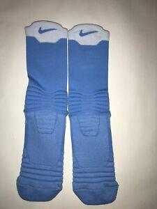 Nike Elite Versatility Socks Blue/White- Large - 1 Pair