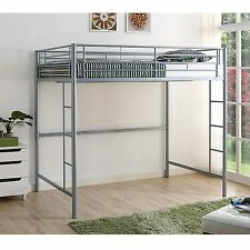 New Metal Full Size Loft Bed in Silver