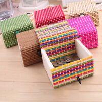 Support de rangement de boîte à bijoux en bois bambou organisateur étui savon