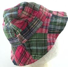 Baby Gap Pink Green Blue Plaid Bucket Hat Small Medium Summer Hat