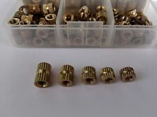 125pcs M4 Copper Brass Knurl Insert Nuts Metric Threaded Assortment Set Kit