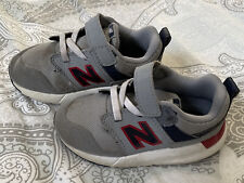 New Balance Toddler Boys- Size 7.5 Sneakers -Good used cons. Grey & Red-no Laces