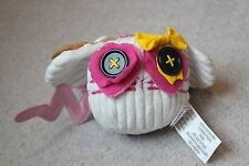 """Lalaloopsy Stuffed Plush 7"""" Buttontails Pet Mouse Button Plush Animal Toy White"""