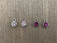 Authentic Origami Owl Silver Crystal Earring Drops - NEW