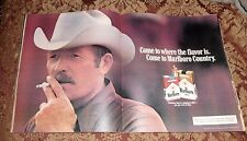 1982 Near Mint Print Ad Marlboro Man Come to where the flavor is Country Cigaret