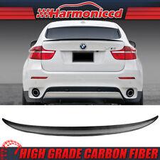 Fits 2008-2014 BMW X6 E71 P Style Trunk Spoiler Carbon Fiber CF