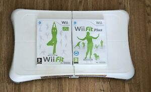 Nintendo Wii Fit Board + 2 Games Wii Fit Wii Fit Plus Good Working Order & Cond