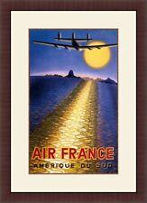 Air France , Aviation Art  Custom Framed Print