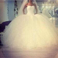 Neu Weiß Brautkleid Hochzeitskleid Abendkleid Ballkleid Gr 34 36 38 40 42 44 46