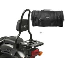 Sissybar m3 + bolsa popa rb1 para Kawasaki VN 900 light 10-14 con portaequipajes