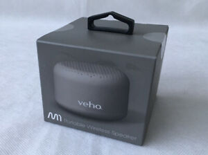 "VEHO M-SERIES M1 Bluetooth Wireless Portable Travel Speaker 1.5"" GREY NEW"