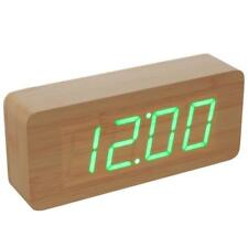Orologio Sveglia Digitale Effetto Legno Display Led Allarme Cubo Tavolo Linq