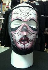 Ladies Winter Riding Gear- Neoprene Full Face Mask-Sugar Skull