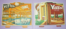 4063/ LOT DE 2 CALENDRIERS VITTEL 1937 1938 SOURCE VOSGES / DESSINS / ART DECO