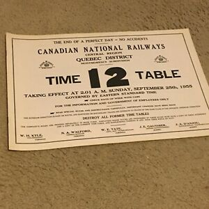 SB1 Canadian National - Quebec Dis - Montmorency Subdivision - No 12 - Sept 1955