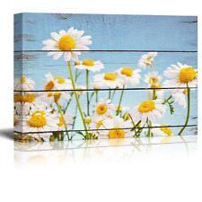 Wall26 - Daisy Field in Bright Sun - Canvas Art Home Decor - 16x24 inches
