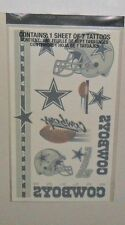 DALLAS COWBOYS SHEET OF 7 TEMPORARY TATTOOS LOWEST PRICE FAST FREE SHIP