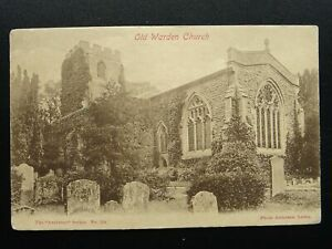 Bedfordshire OLD WARDEN St. Leonard Church - Old Postcard by Anderson
