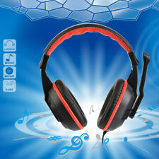 Gaming Stereo On Ear Wired Headphones Headset for Kids Adults PC Computer Laptop