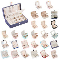Jewelry Ring Display Organizer Box Tray Holder Earrings Storage Case Container