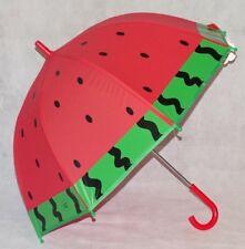 Children's Umbrella Dome Brolly Watermelon Design Girls Pink Green Gotta KidsNEW