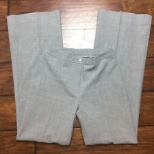 Classiques Entier Wool Dress Pants Size 6 Womens Gray Stretch Flare Leg